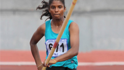 Anitha the Vaulting Queen Breaks Her Own Lankan Record in Pole Vaulting